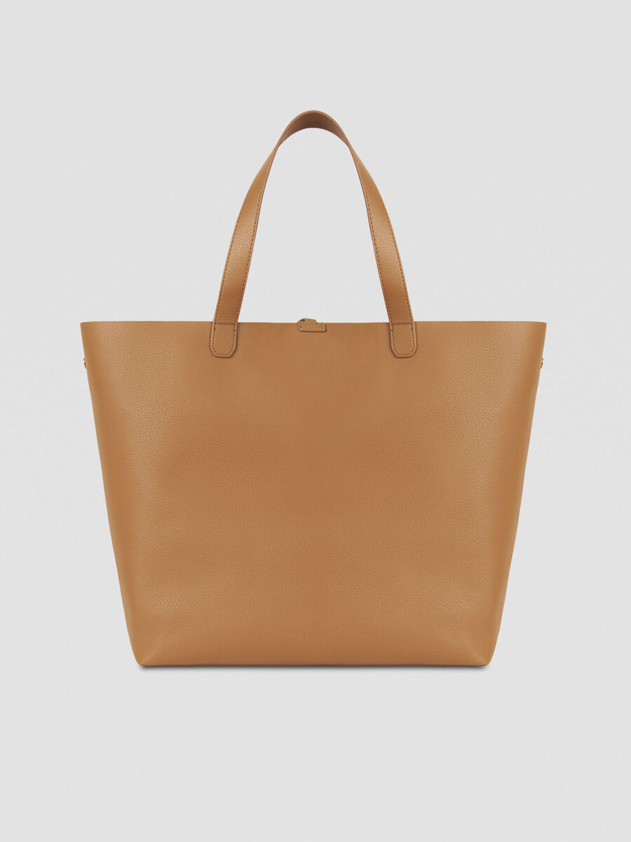 Large Luna shopping bag in reversible faux leather