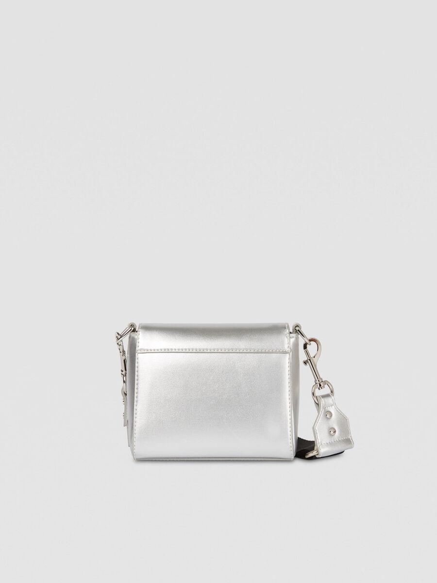 Small T-Easy Diamond Cacciatora bag in faux leather