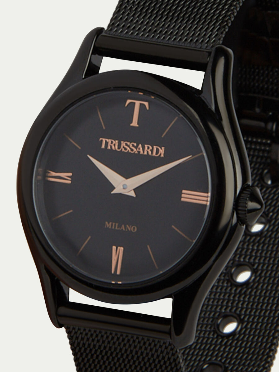 T-Light watch with Milanese mesh strap