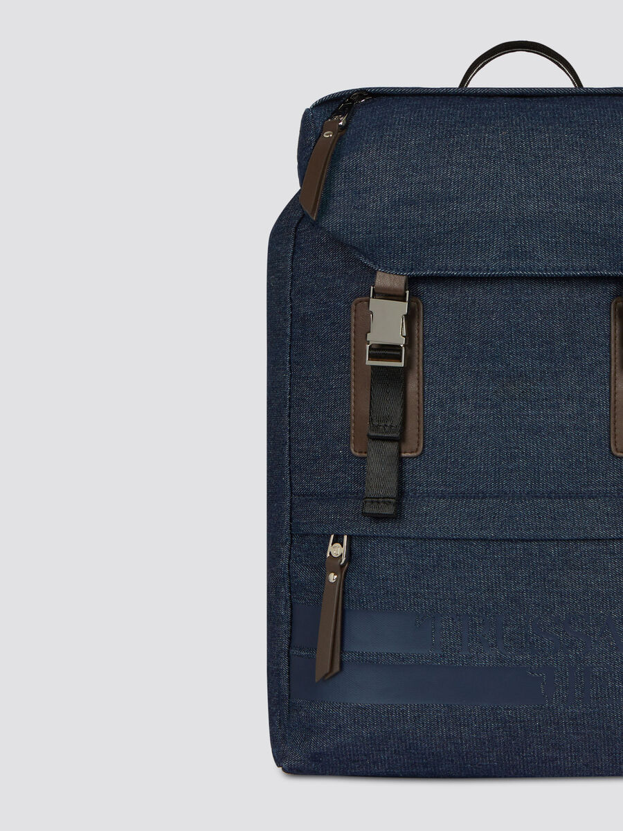 Sac a dos Turati medium en denim et similicuir