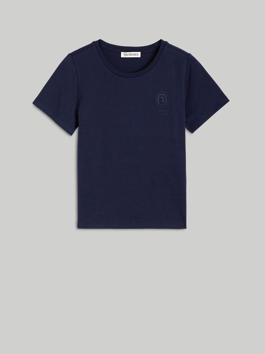 Regular-fit jersey T-shirt with tonal logo