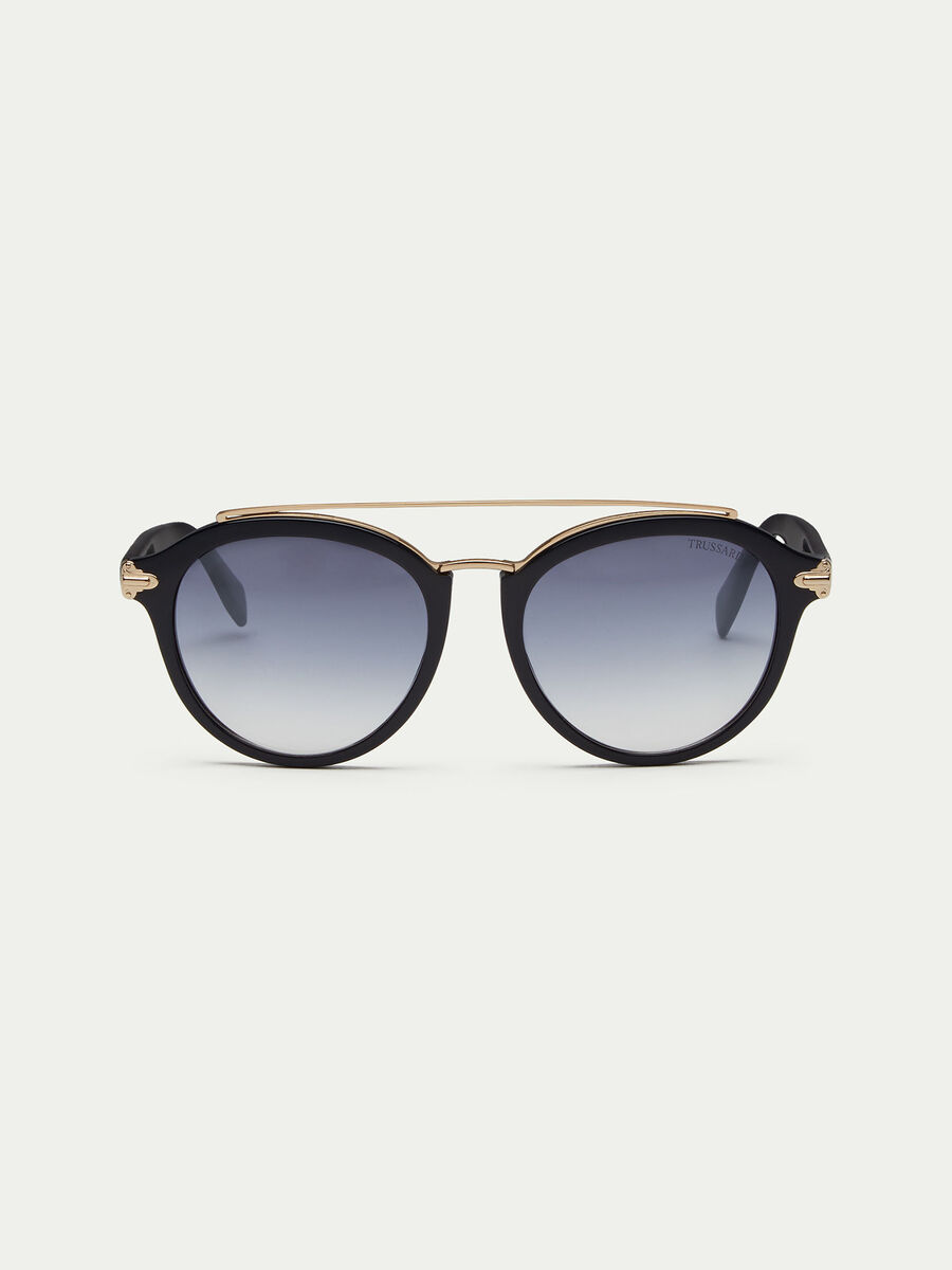 Lucid sunglasses with top-bar bridge