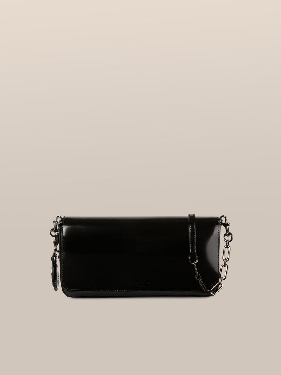 Bianca clutch in abraded leather