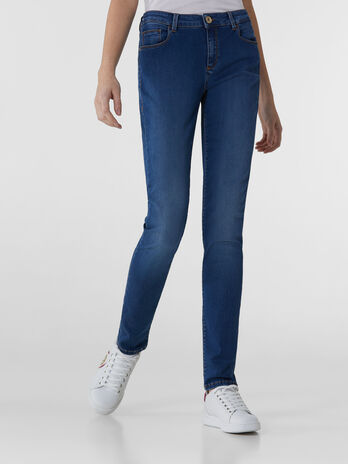 Regular-fit 260 jeans in Satin Power denim