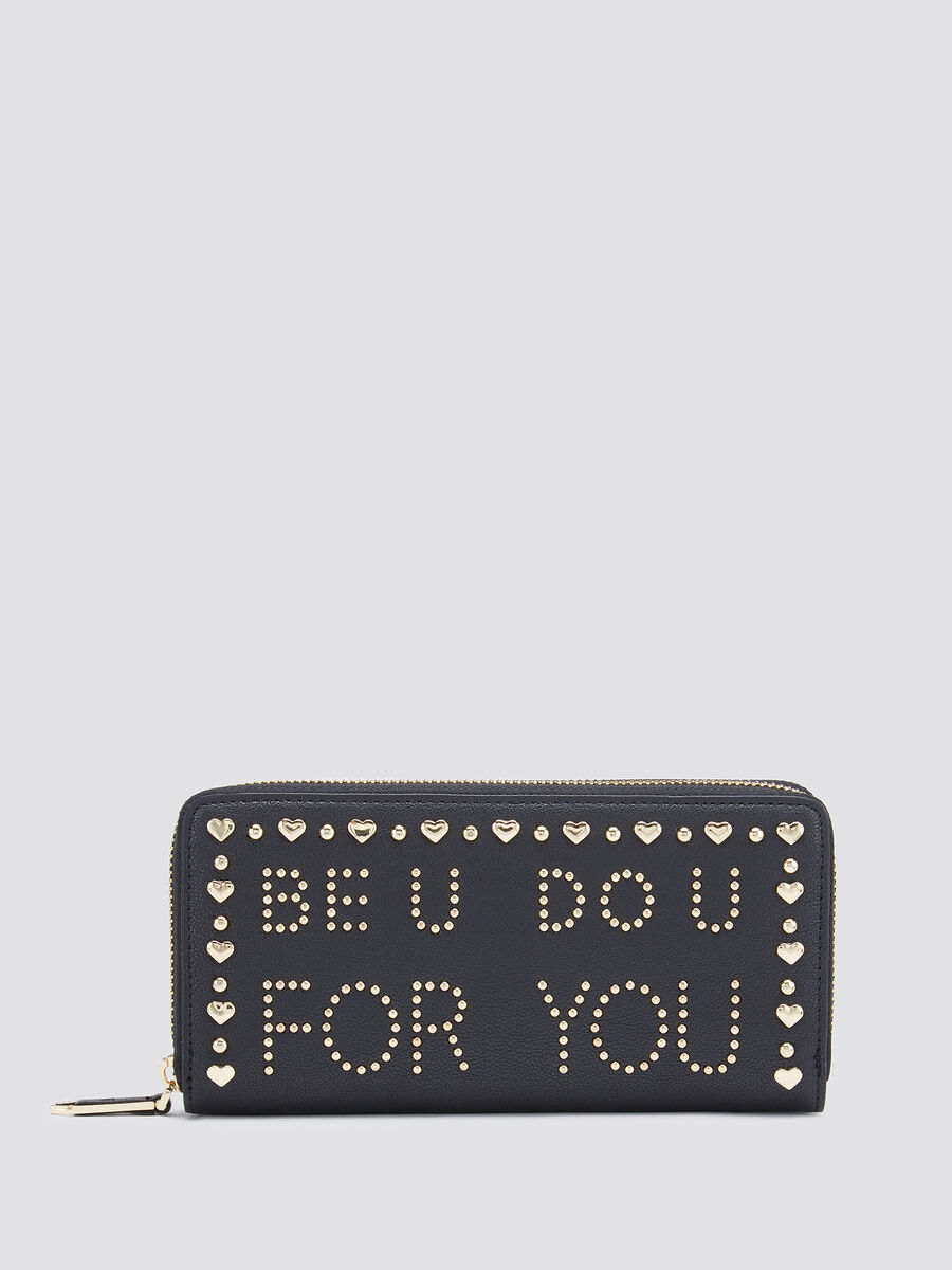 Studded Paprica purse in faux leather