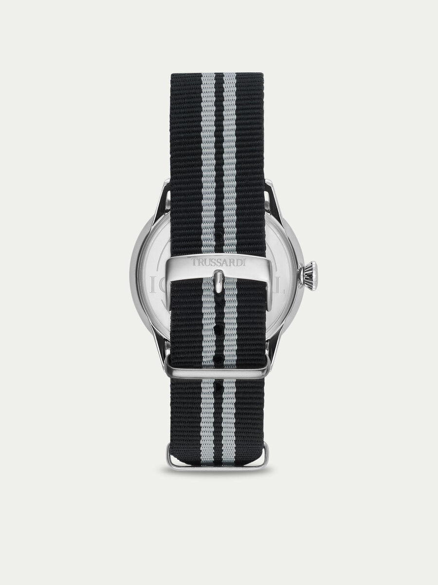 Steel and leather T-Evolution watch
