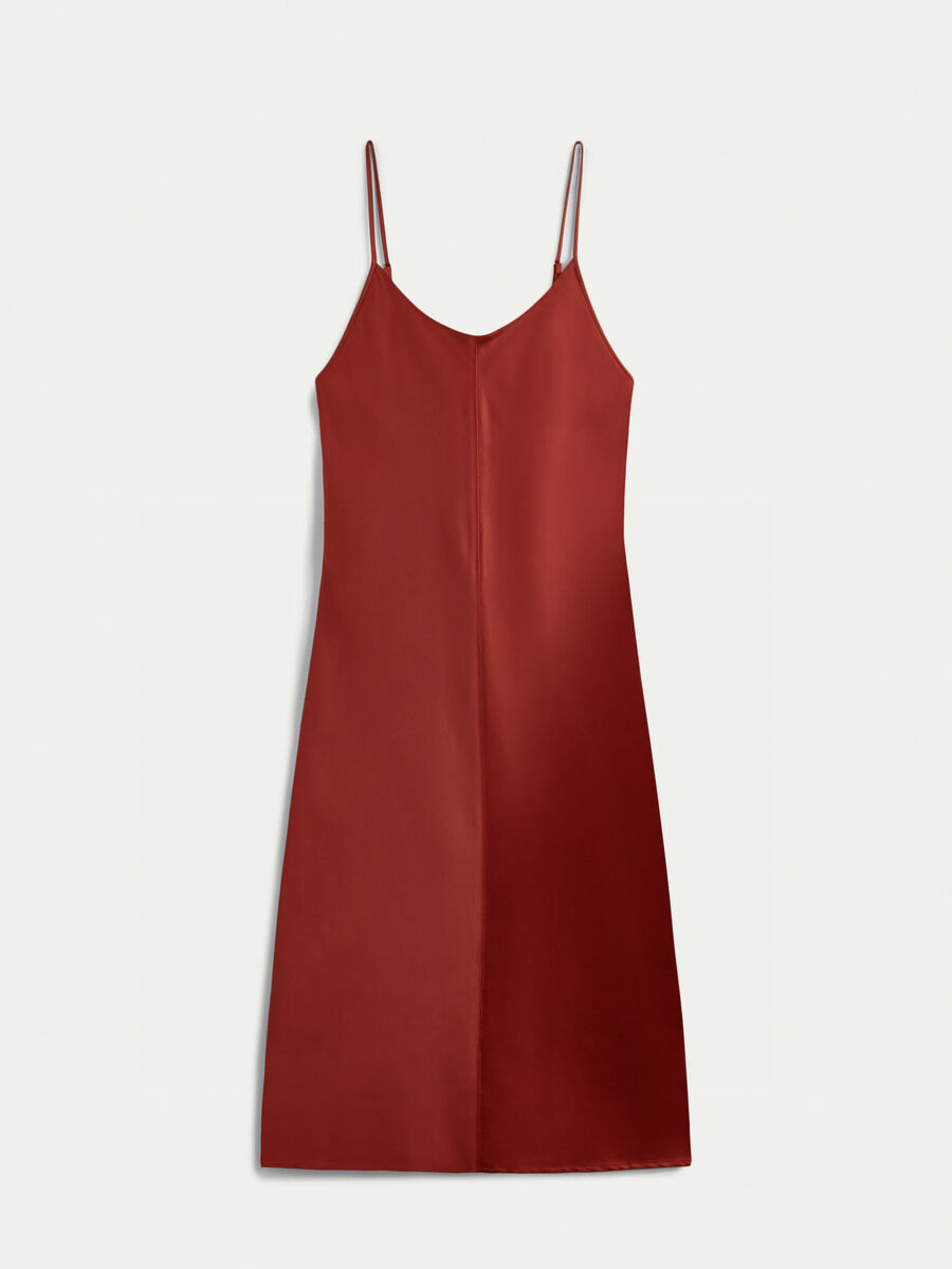 Abito slipdress in satin