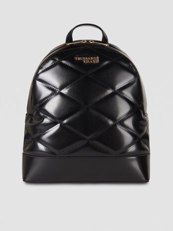 Medium T-Easy City backpack in faux leather with logo