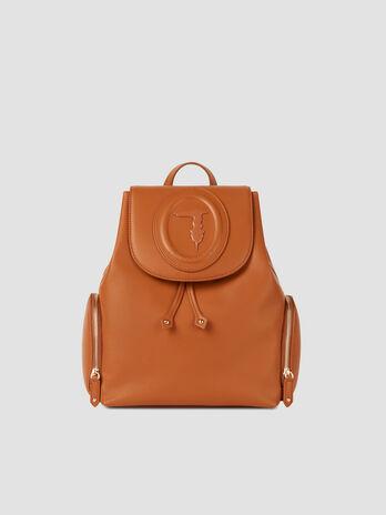 Medium smooth faux leather Lisbona backpack