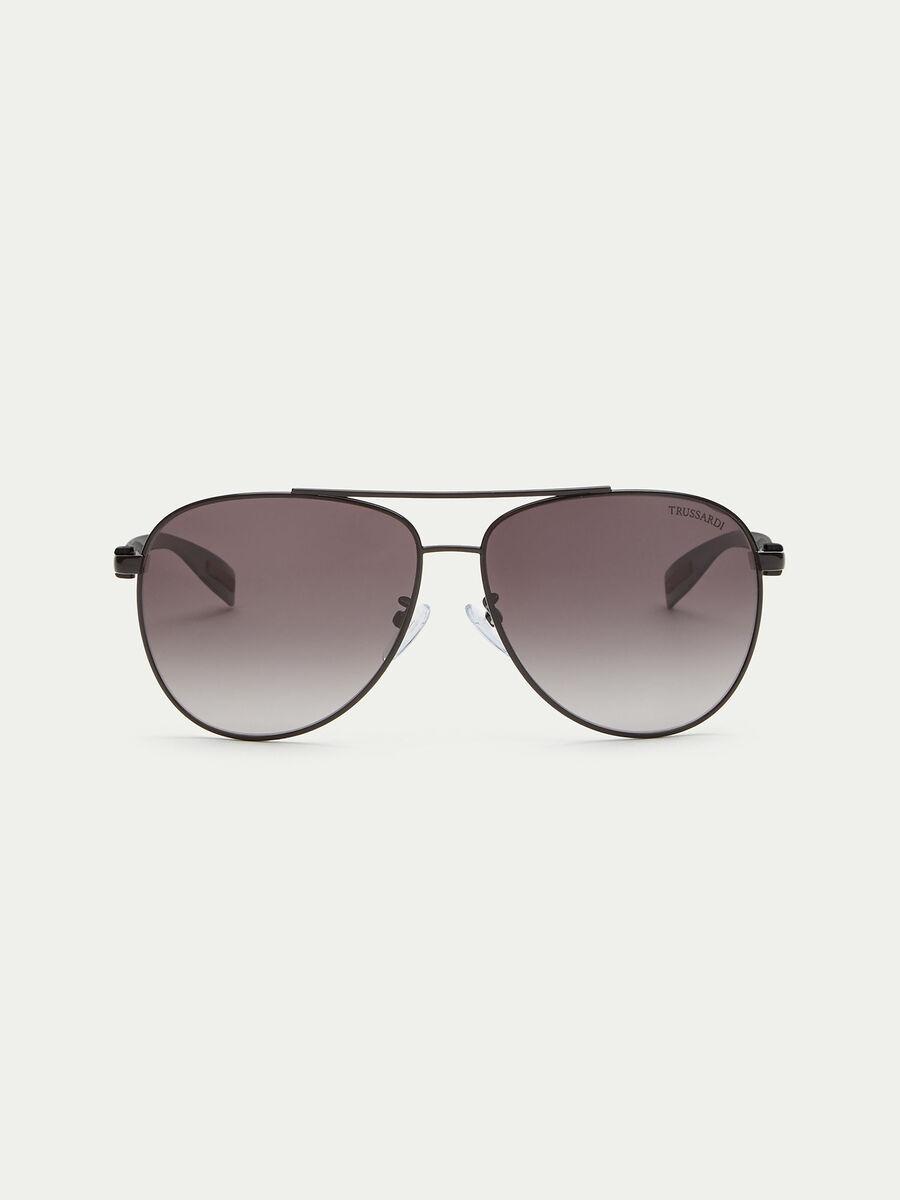 Flieger Sonnenbrille mit gestreiften Buegeln