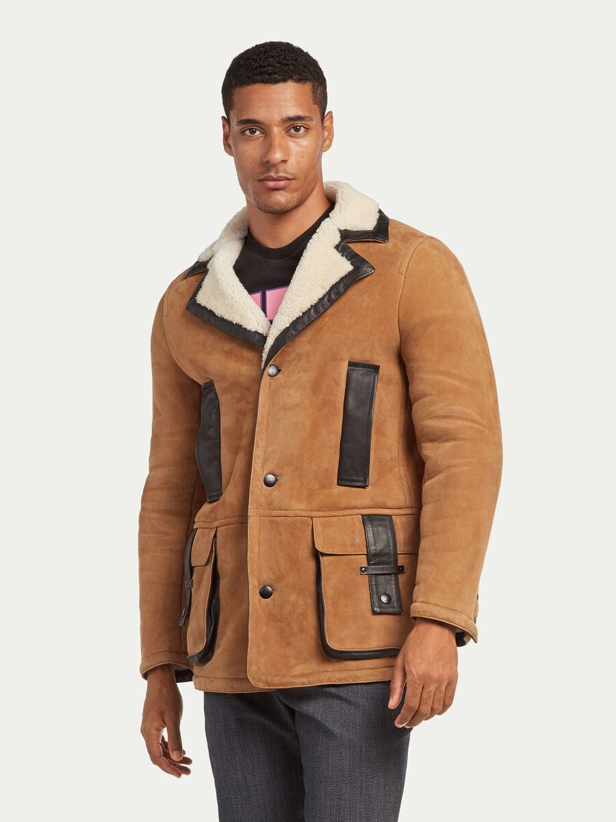 Regular Fit Mantel Shearling Modell