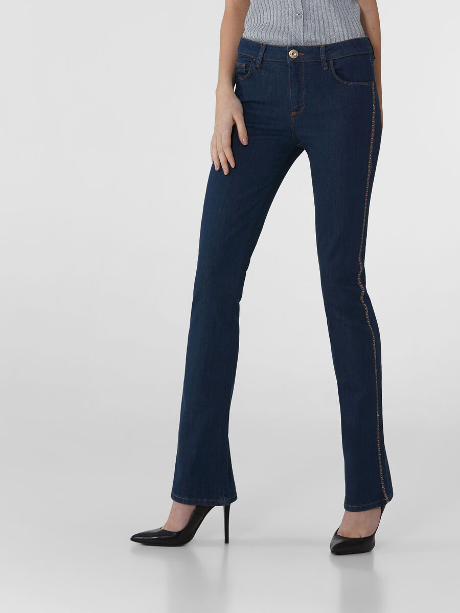 Flared 206 jeans in blue denim twill