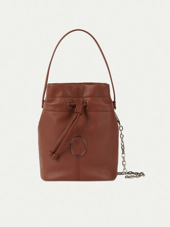Bucket bag in nappa