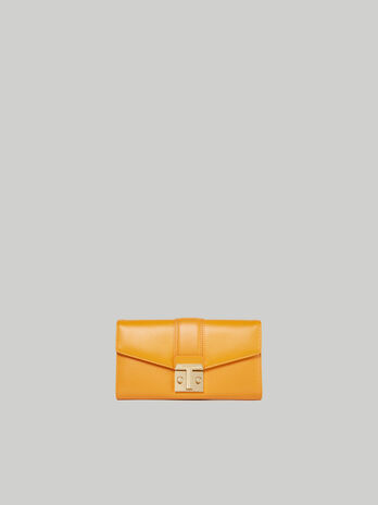 Plain faux leather Tulip continental purse