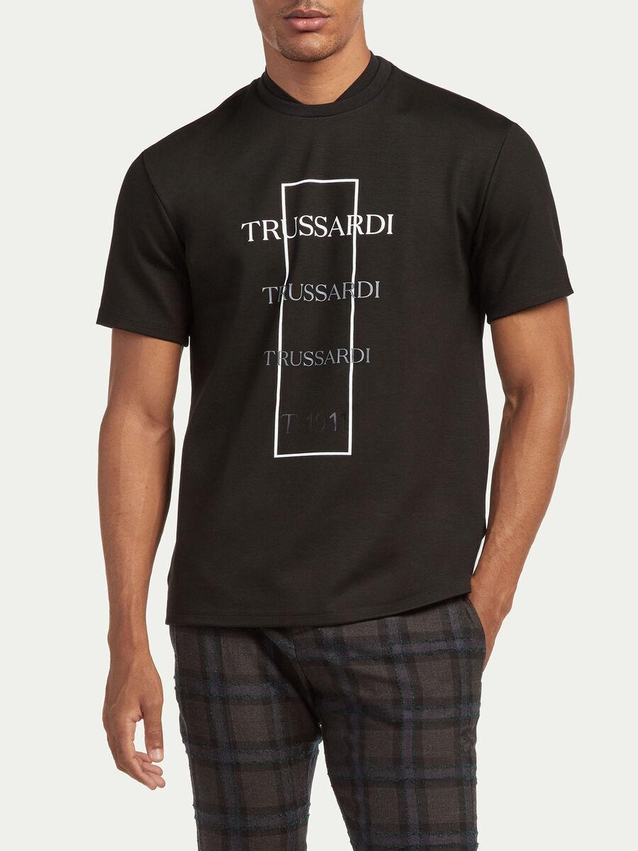 Oversize T Shirt Logo Degrade