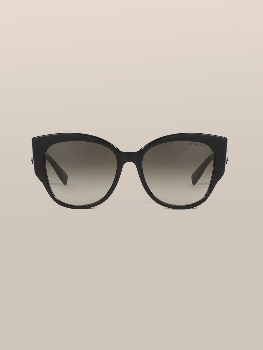 Oversized sunglasses with Levriero detail