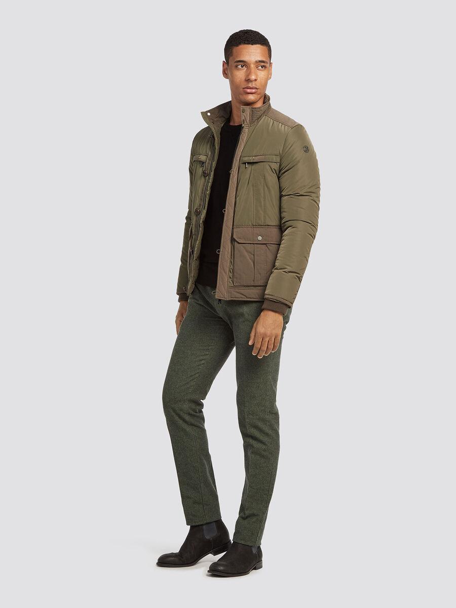 Pantaloni 70's fit chino melange