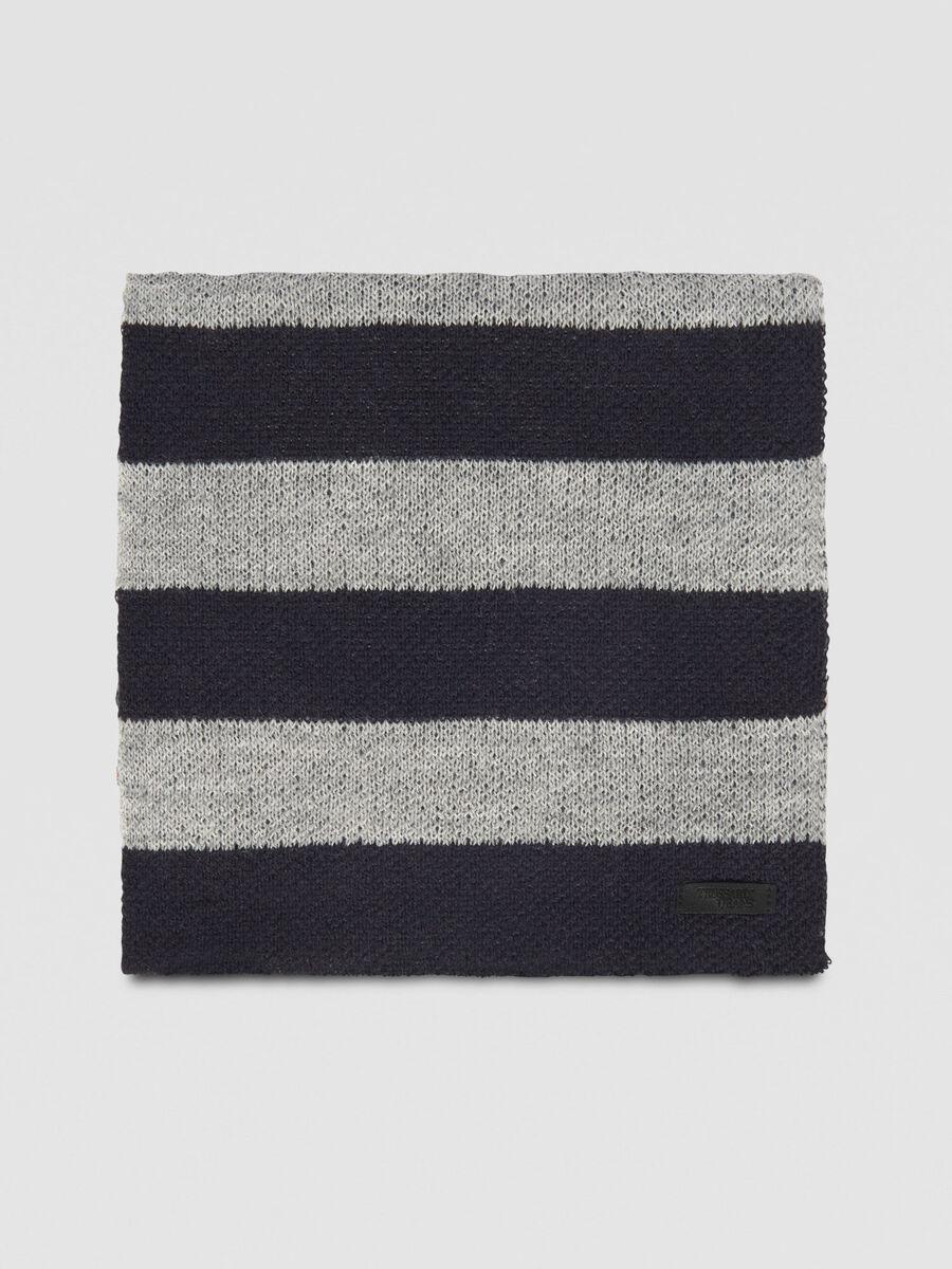 negozio di sconto vendita all'ingrosso limpido in vista Sciarpa in misto lana a righe