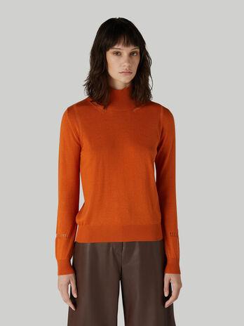 Regular-fit wool-blend polo-neck