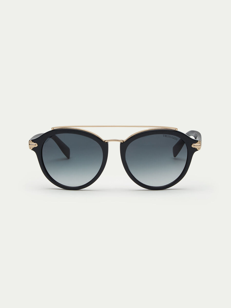Sunglasses with top bar bridge