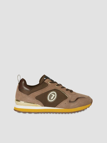 Kiwi running shoes in suede and technical fabric