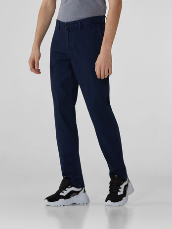 Pantaloni aviator fit in denim canvas
