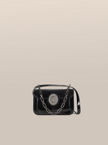 Small Ottavia crossbody bag in abraded leather