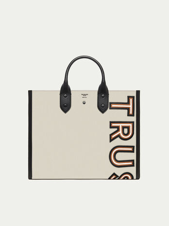a93d0629a1 Shopping Bag con patch logata