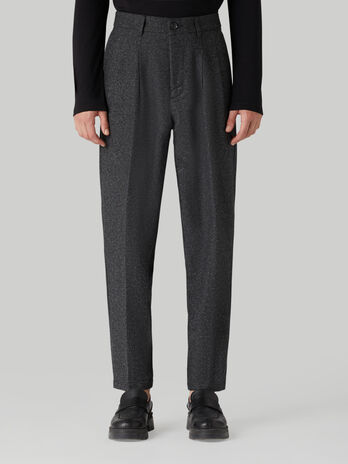 Speckled wool-blend trousers