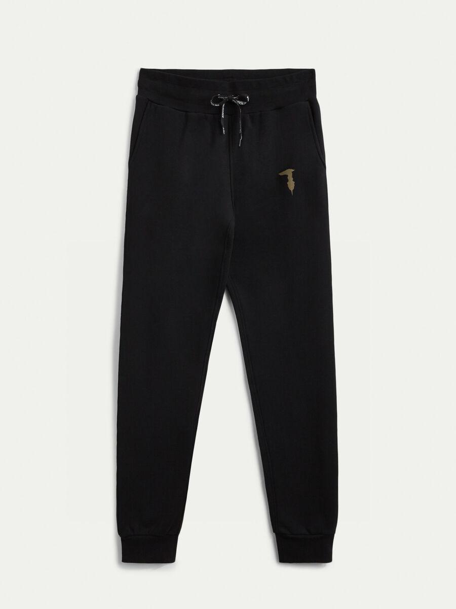 Pantalone in felpa con monogram laminato