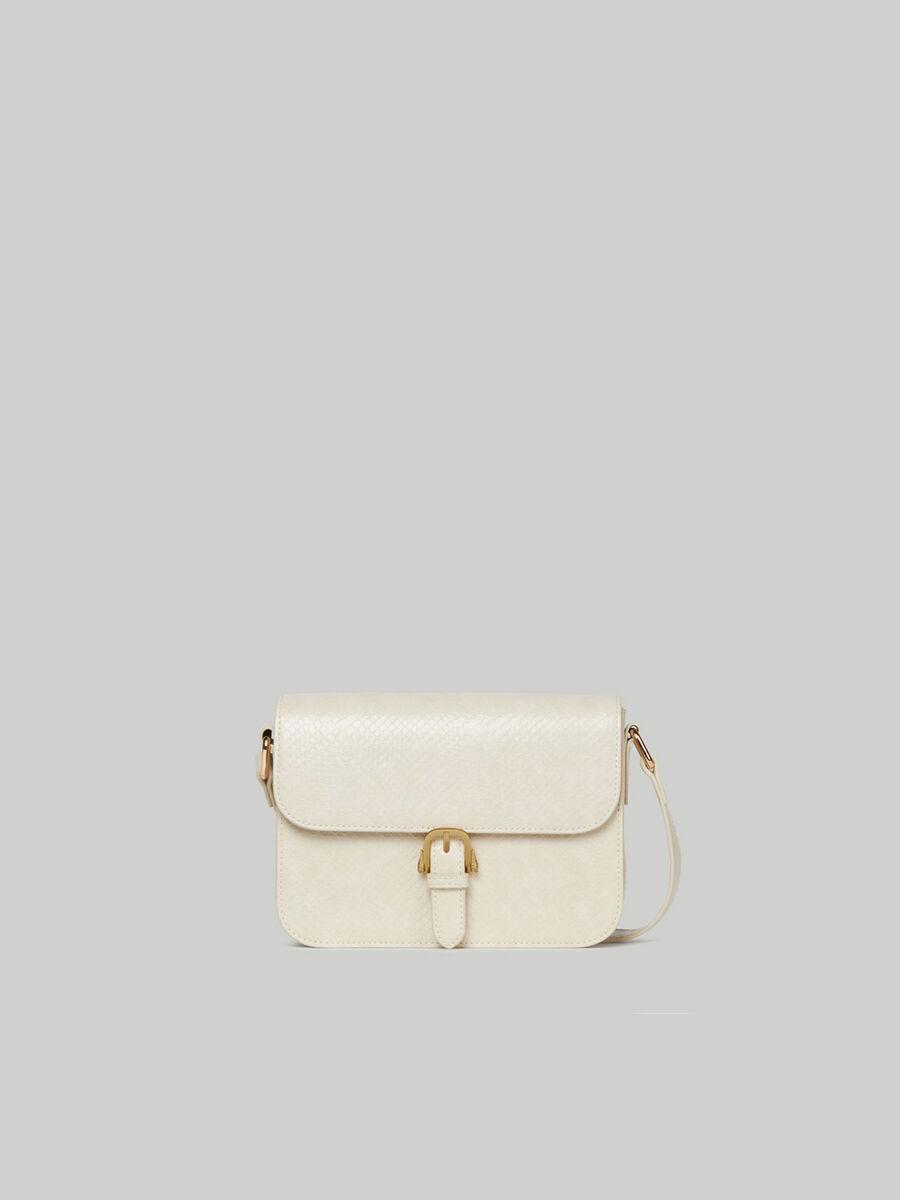Medium Victoria crossbody bag with python print