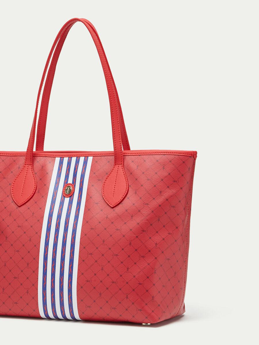 Medium striped Monogram crespo leather shopping bag