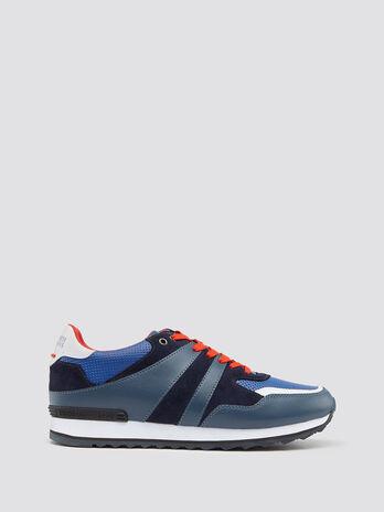 Sneakers de running en cuir a lacets