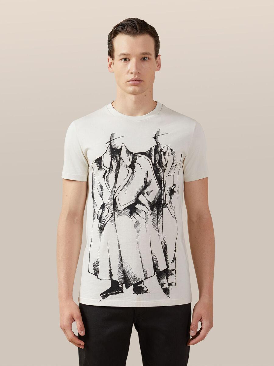 6de0fd497d T-shirt regular fit in jersey con stampa vintage