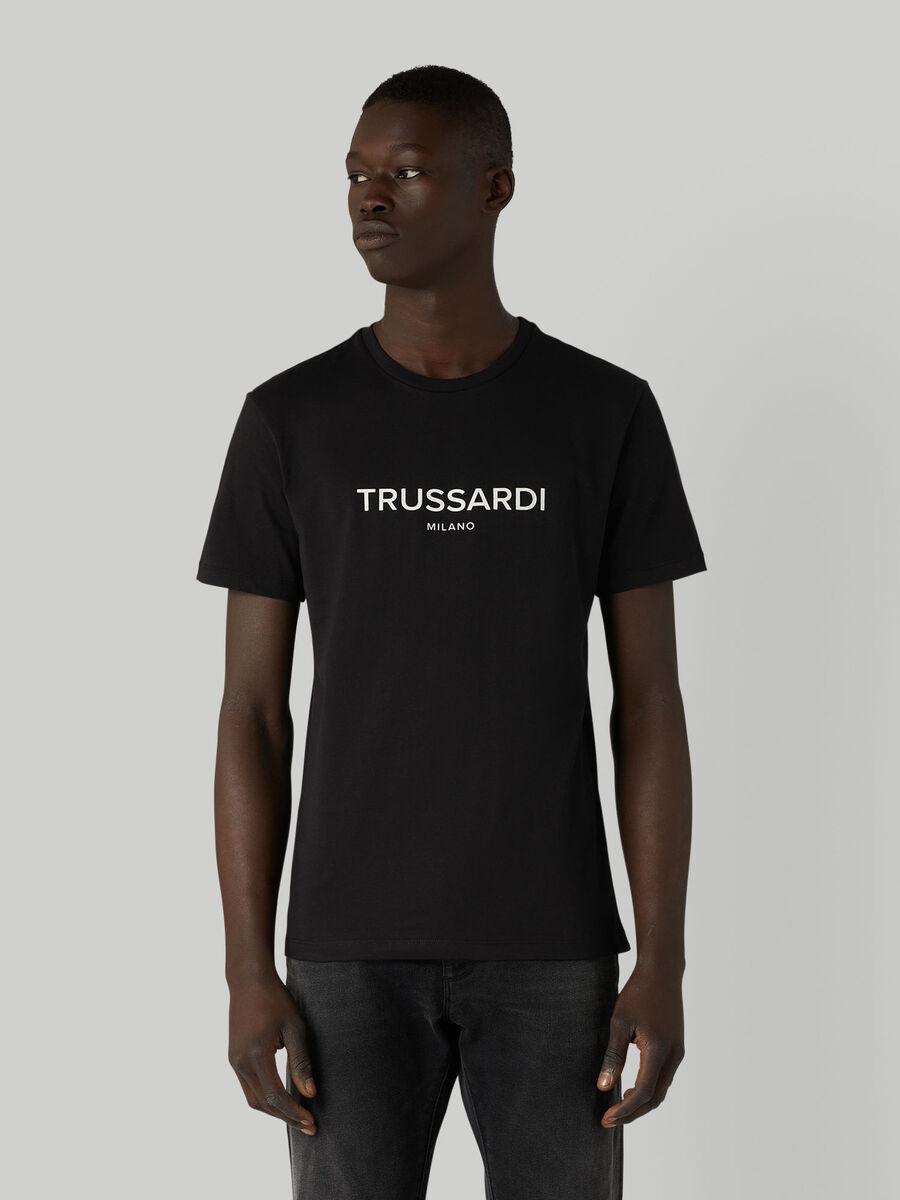 T-Shirt aus Baumwolljersey mit Schriftzug