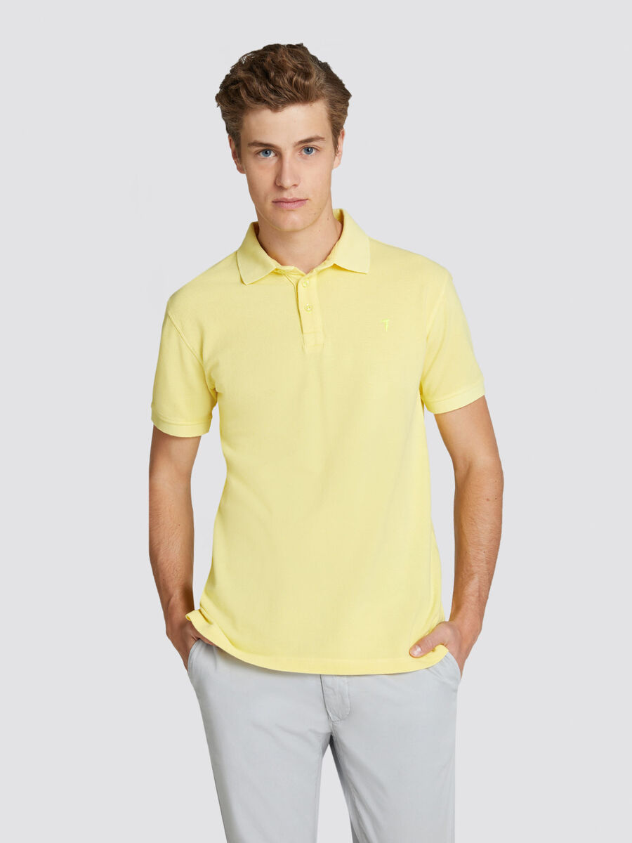 Regular fit pique polo shirt with short sleeves