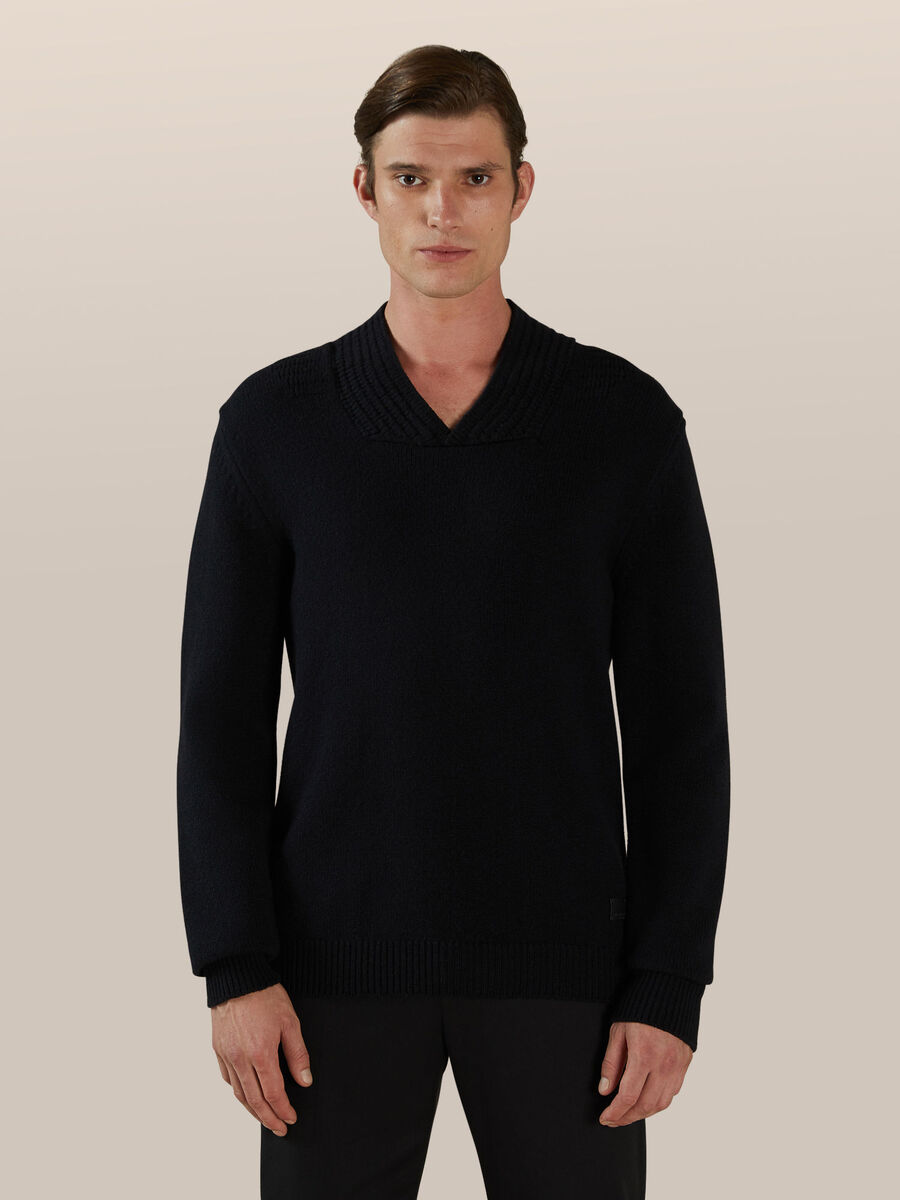 Regular fit wool blend pullover
