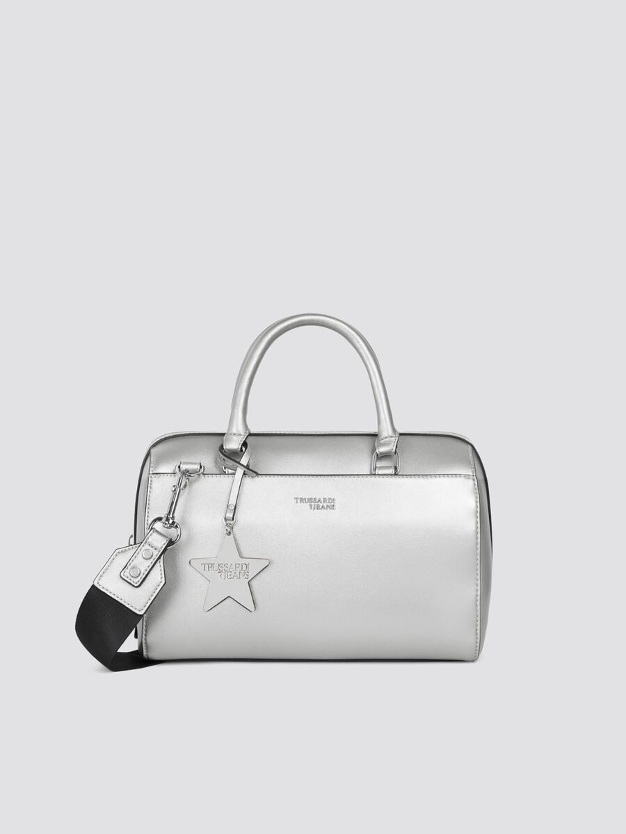 Bauletto T-Easy Star medium in similpelle con logo