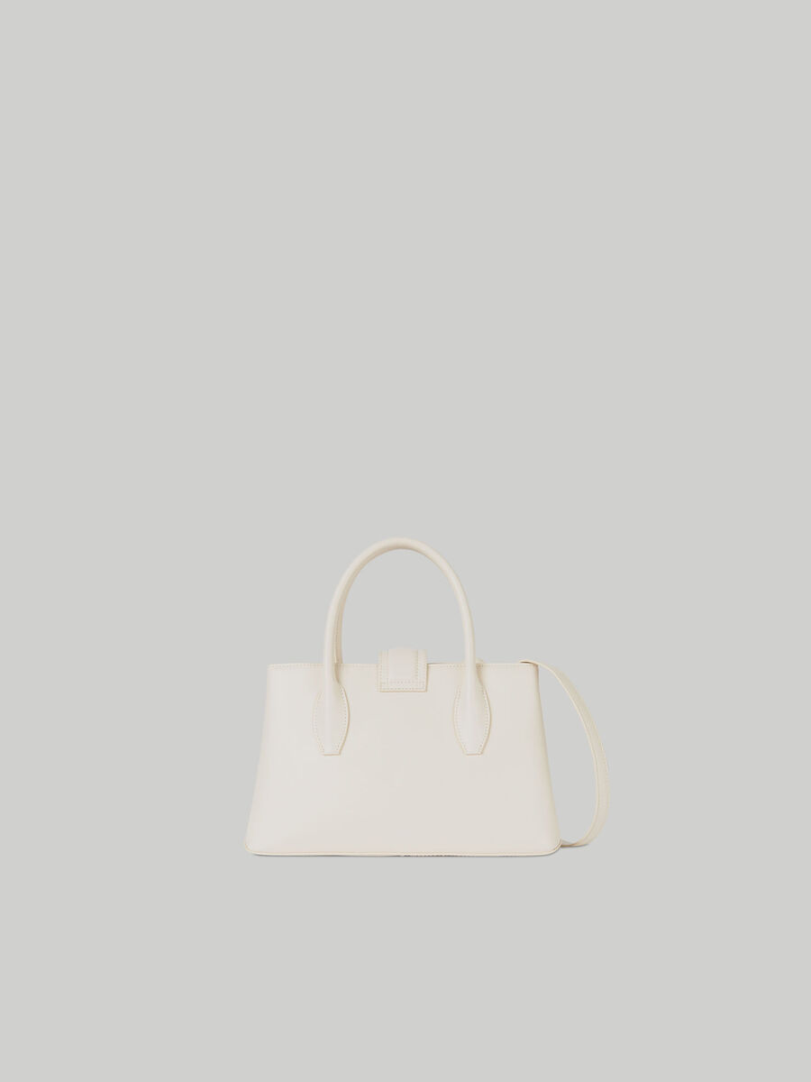 Small Tulip tote bag in plain faux leather