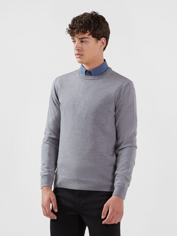 Regular fit pure wool pullover