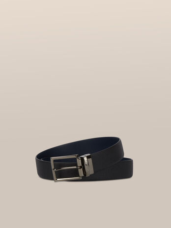 Two tone Crespo leather belt