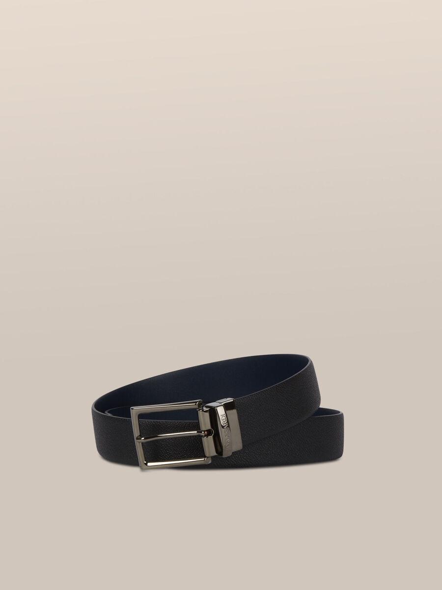 Cintura in pelle crespo bicolor