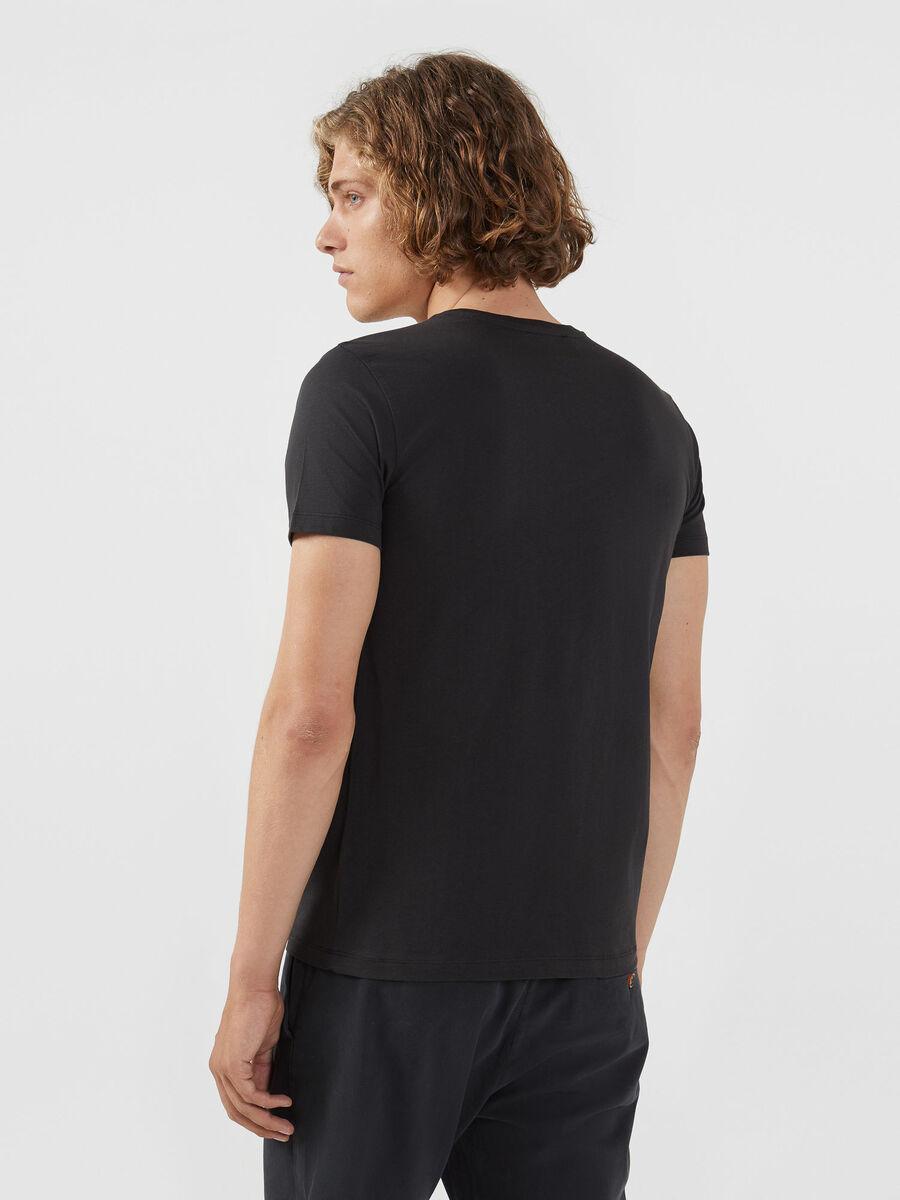 T-shirt coupe classique en jersey a maxi logo