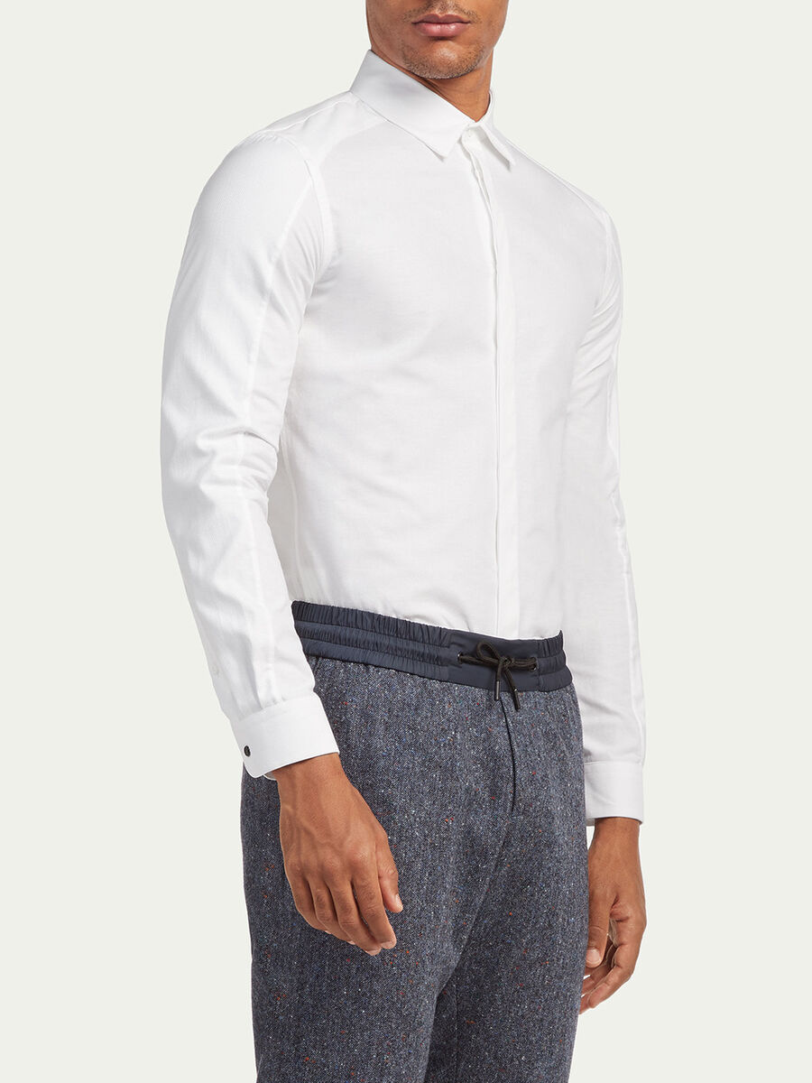 Regular fit Oxford blend shirt