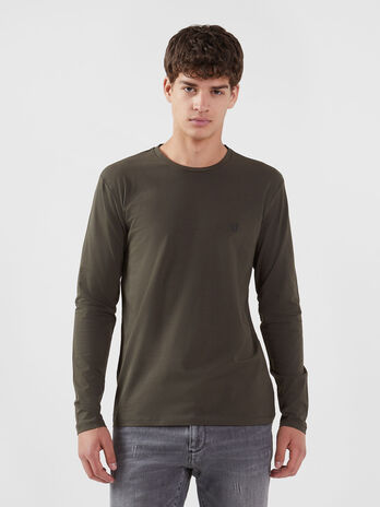 Regular fit jersey T-shirt with long sleeves
