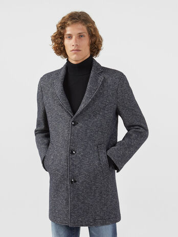 Regular fit houndstooth coat