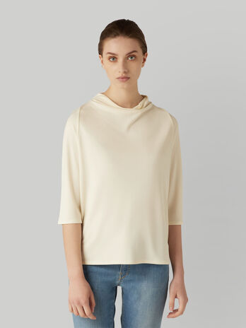 Blusa in jersey crepe