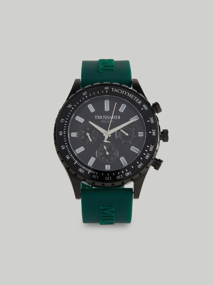 45 MM T-Logo watch with silicone strap