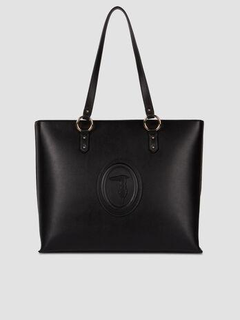 Large faux leather Lisbona shopper