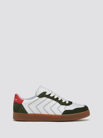 Sneakers with piping and stitching